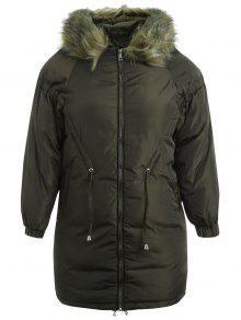 بالاضافة الى حجم مقنعين معطف مبطن الرمز البريدي - الجيش الأخضر 3x