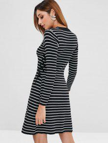 ... Striped Lace Up Sweater Dress  Striped Lace Up Sweater Dress. outfits  Striped Lace Up Sweater Dress - BLACK ONE SIZE dded5c3c9