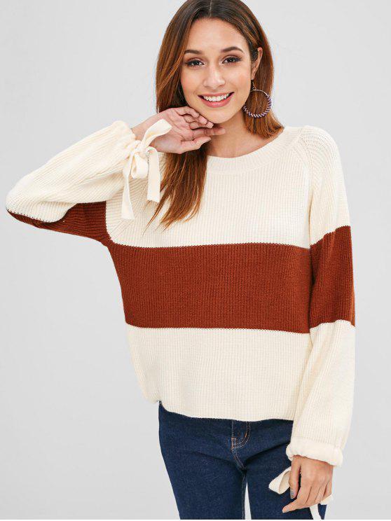 Suéter de manga raglán de dos tonos - Multicolor Talla única