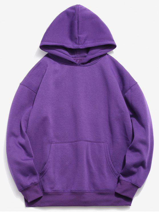 new Back Fishes Print Chinoiserie Hoodie - PURPLE AMETHYST 2XL