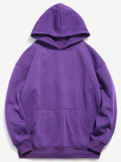 Hamburger And Letter Print Hoodie - Purple Iris Xl