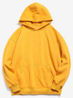 Hamburger And Letter Print Hoodie - Bee Yellow M