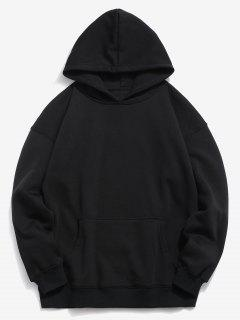 Back Fishes Print Chinoiserie Hoodie - Black L