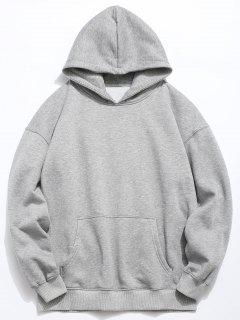 Back Fishes Print Chinoiserie Hoodie - Gray Cloud M