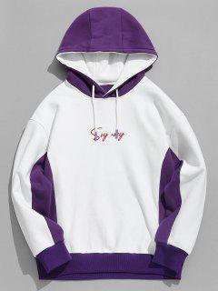 ZAFUL Flying Eagle Graphic Fleece Hoodie - White L