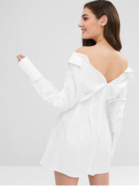 Mini Robe Plissée Détaillée - Blanc Taille Unique Mobile