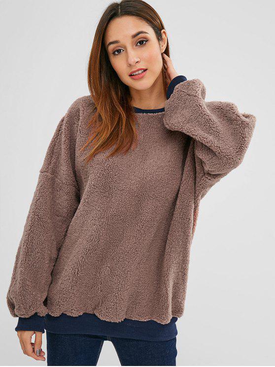 Sweat-shirt Fourré en Fausse Laine - Puce XL