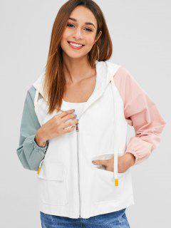 Reglan Sleeve Hit Color Jacket - Multi-c L