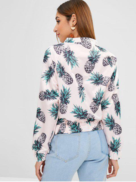 affordable Pineapple Jacket with Raglan Sleeves - SAKURA PINK S Mobile
