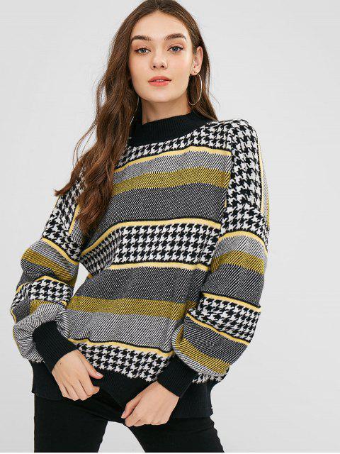 Übergroßer Pullover mit Hahnentritt-Jacquard - Multi Eine Größe Mobile