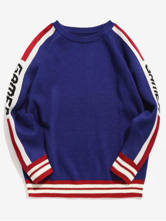 Camisola Listrada Listrada de Malha - Azul M