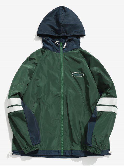 new Contrast Pocket Windbreaker Jacket - GREEN XL Mobile