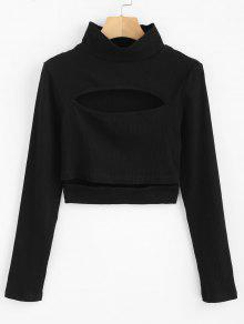 ZAFUL Cropped Cut Top Cut Top - أسود L