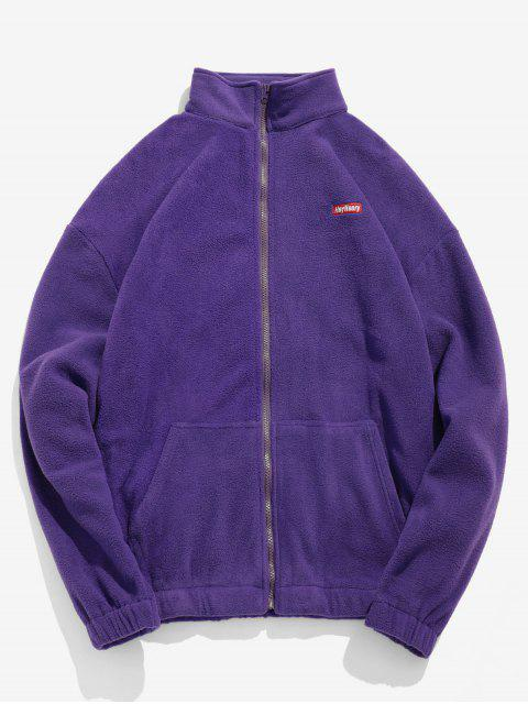 online Embroidery Fleece Jacket - PURPLE AMETHYST M Mobile