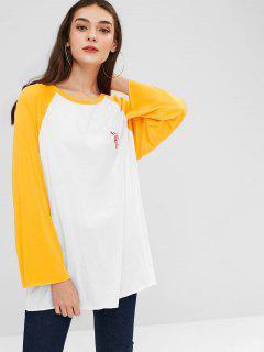 Camiseta Raglan Manga Larga - Blanco
