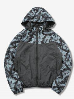 Detachable Hat Reversible Jacket - Gray L