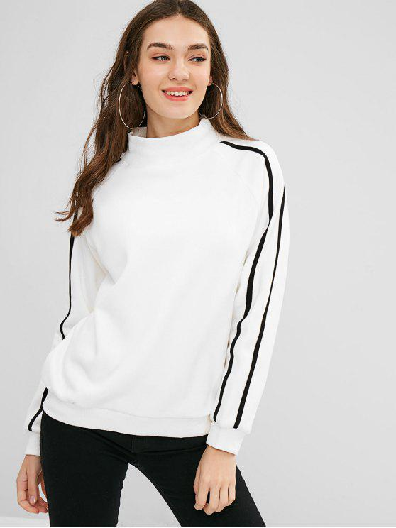 affordable Side Striped Letter Graphic Sweatshirt - WHITE XL