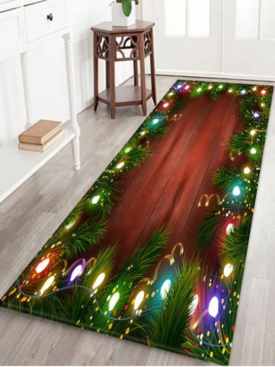 shop Christmas Lights Pattern Water Absorption Floor Rug - MULTI W24 X L71 INCH