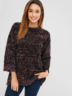 Mixed Yarn Glittering Textured Sweatshirt - Multi