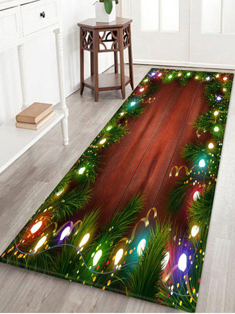 shop Christmas Lights Pattern Water Absorption Floor Rug - MULTI W24 X L71 INCH Mobile