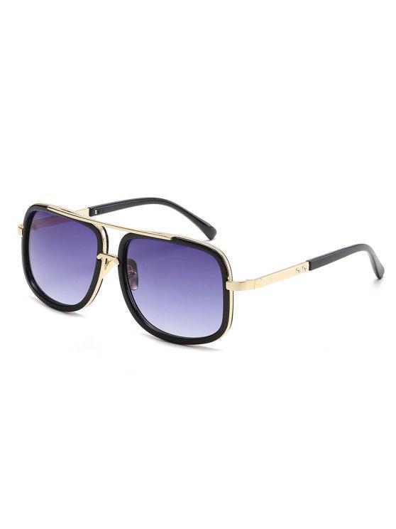 womens Vintage Metal Frame Crossbar Sunglasses - NIGHT