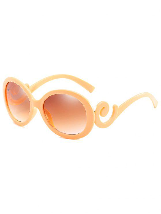 online Stylish Oval Frame Anti Fatigue Sunglasses - GOLDEN BROWN