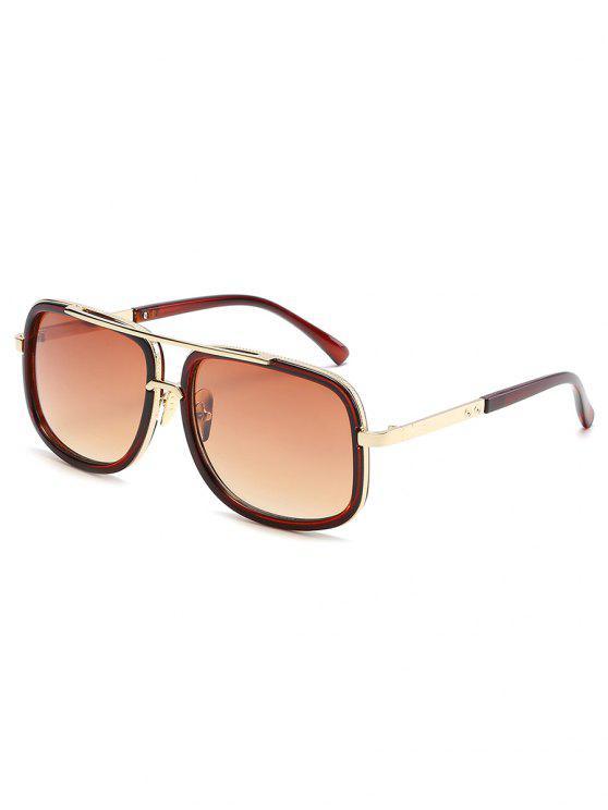 sale Vintage Metal Frame Crossbar Sunglasses - TAN