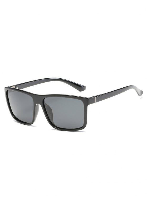 womens Vintage Flat Lens Full Frame Driving Sunglasses - BATTLESHIP GRAY