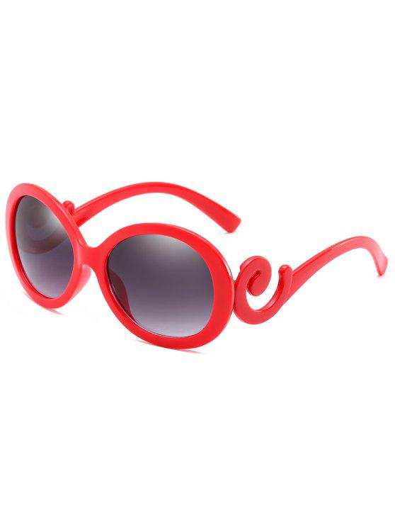 outfits Stylish Oval Frame Anti Fatigue Sunglasses - LAVA RED