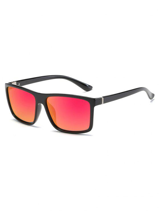 chic Vintage Flat Lens Full Frame Driving Sunglasses - WATERMELON PINK