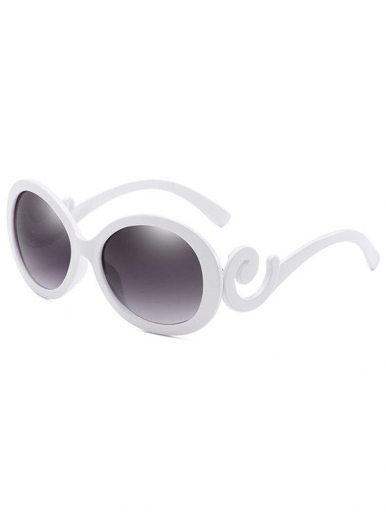 affordable Stylish Oval Frame Anti Fatigue Sunglasses - MILK WHITE