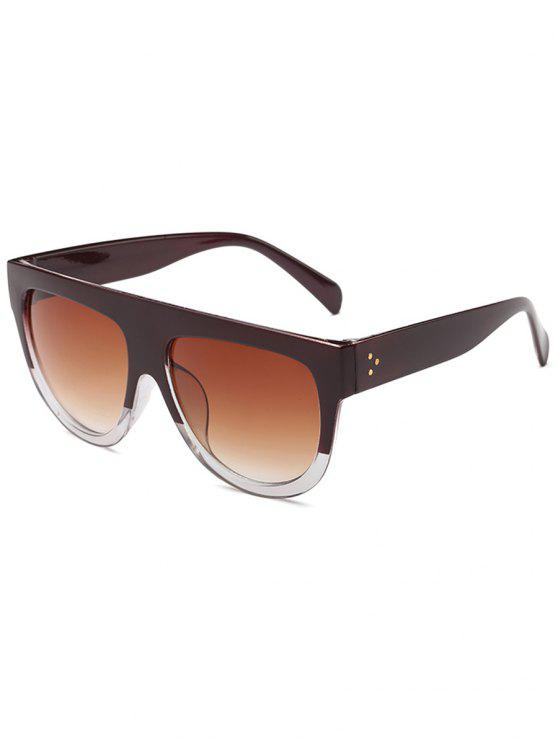 lady Novelty Oversized Frame  Driving Sunglasses - RED WINE