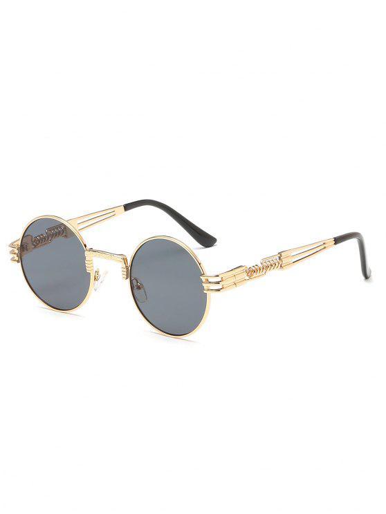 2018 Vintage Metal Frame Flat Lens Round Sunglasses In GOLD | ZAFUL
