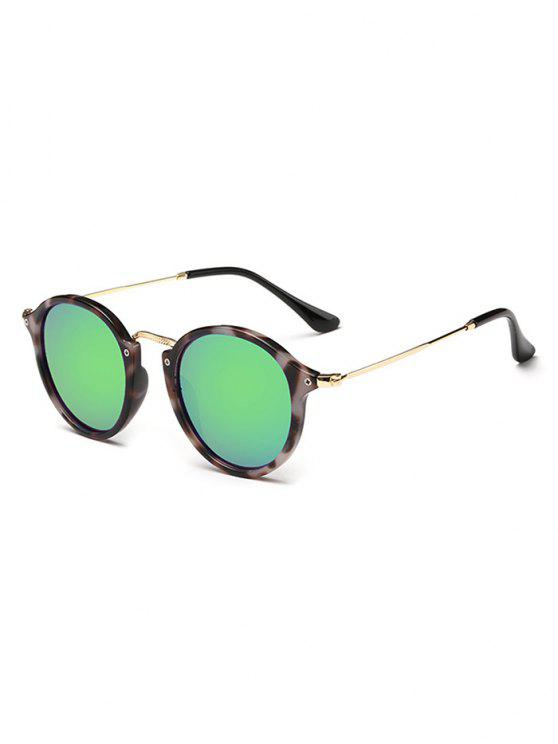 outfits Anti Fatigue Metal Frame Driving Sunglasses - FERN GREEN