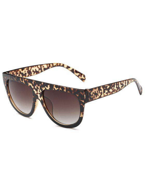 latest Animal Print Novelty Oversized Frame  Driving Sunglasses - DEEP BROWN
