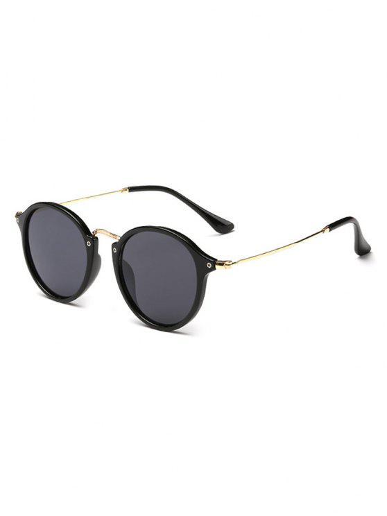 sale Anti Fatigue Metal Frame Driving Sunglasses - BLACK