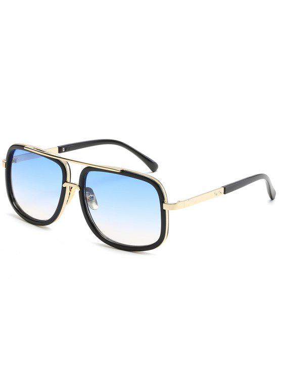 buy Vintage Metal Frame Crossbar Sunglasses - DENIM BLUE