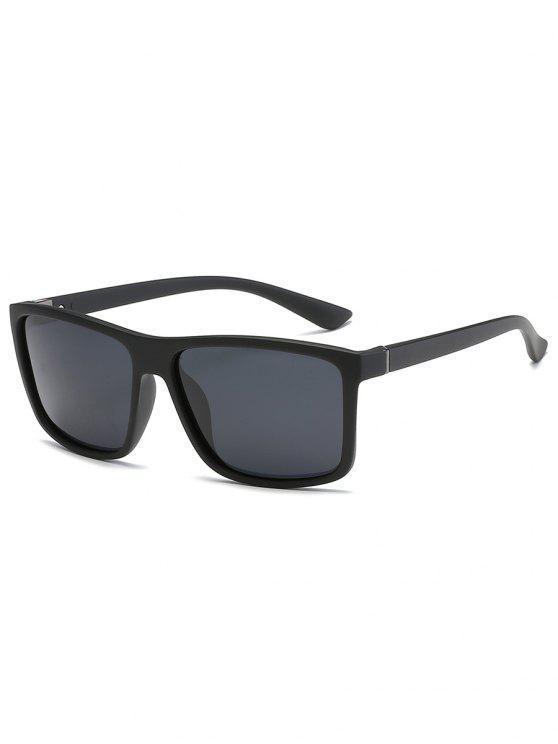 women's Vintage Flat Lens Full Frame Driving Sunglasses - BLACK