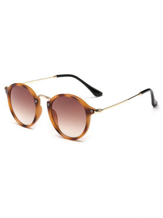 online Anti Fatigue Metal Frame Driving Sunglasses - LEOPARD