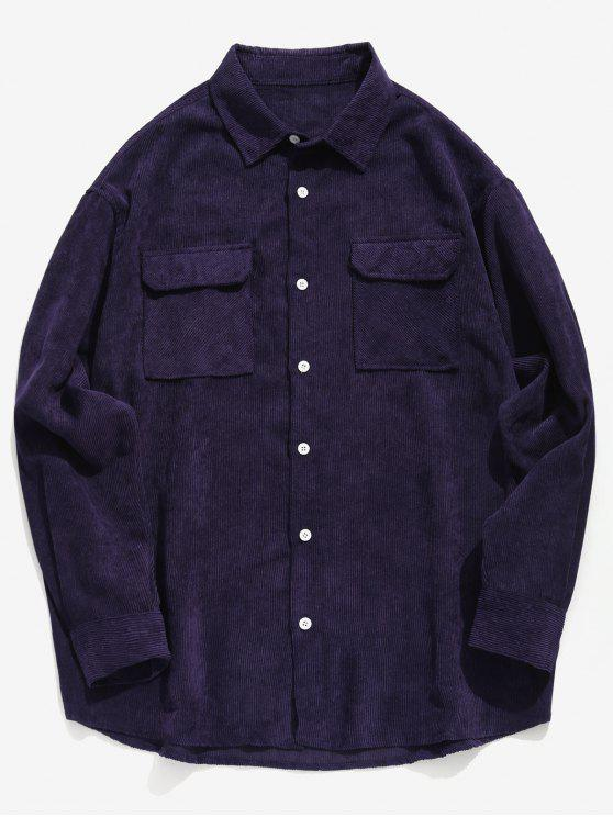 قميص جيب سميك - أرجواني M