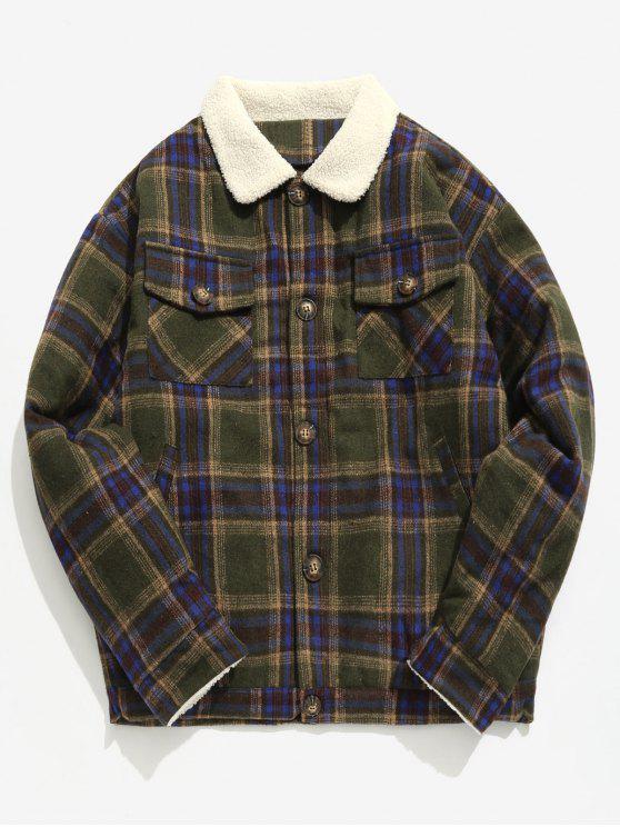 Chaqueta de lana escocesa de Edge Edge - Ejercito Verde M