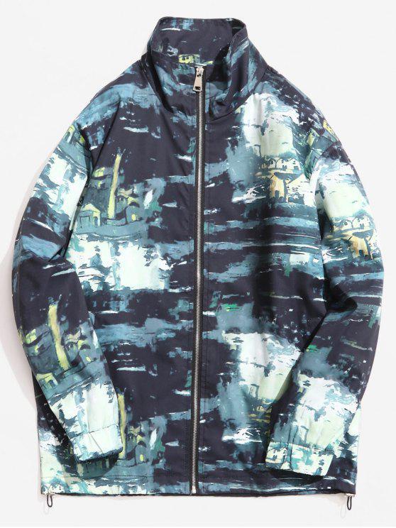 Cuello alto de la chaqueta de patrón de camuflaje - ACU Camuflaje XL