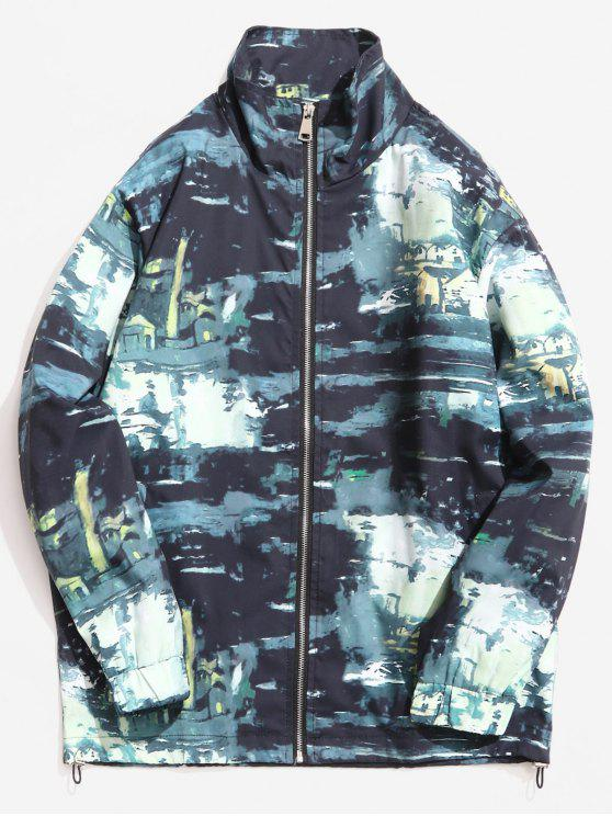 womens Stand Collar Camouflage Pattern Jacket - ACU CAMOUFLAGE M