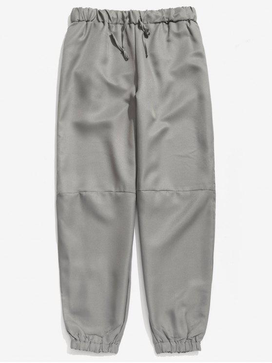 Pantaloni Da Jogging Larghi Con Coulisse - Nuvola Grigia XL