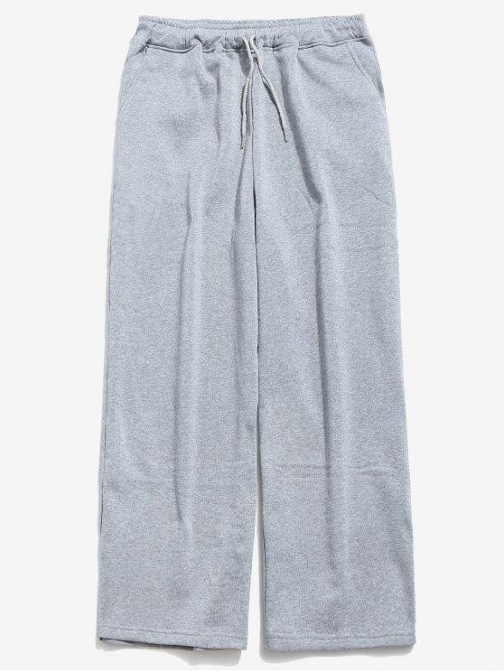 Pantaloni Larghi Con Coulisse - Grigio XL