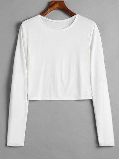 Camiseta Básica De Manga Larga - Blanco M