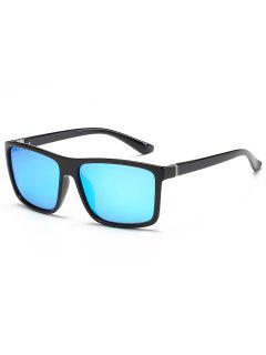 Vintage Flat Lens Full Frame Driving Sunglasses - Day Sky Blue