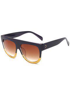 Novelty Oversized Frame  Driving Sunglasses - Goldenrod