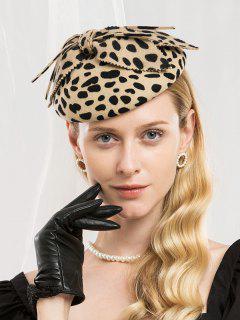 Elegant Bowknot Leopard Beret - Leopard