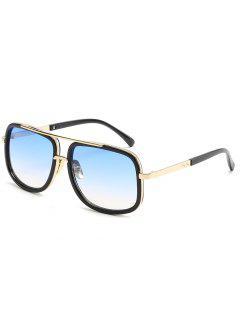 Vintage Metal Frame Crossbar Sunglasses - Denim Blue
